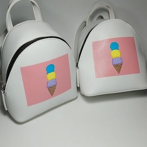 1 Hand Painted Mini Backpack